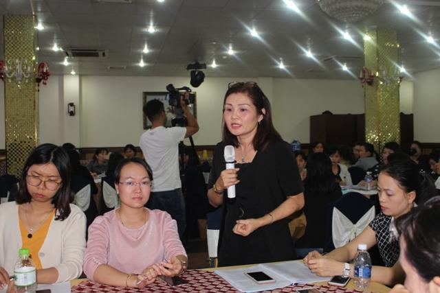 Hội Liên hiệp Phụ nữ thành phố Đà Nẵng phát biểu tại Hội nghị
