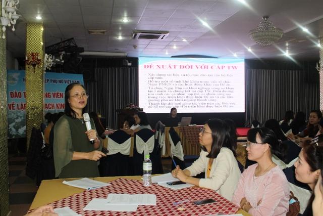 Đại diện Trung ương Hội LHPN Việt Nam đánh giá về kết quả triển khai Đề án Hỗ trợ phụ nữ khởi nghiệp.