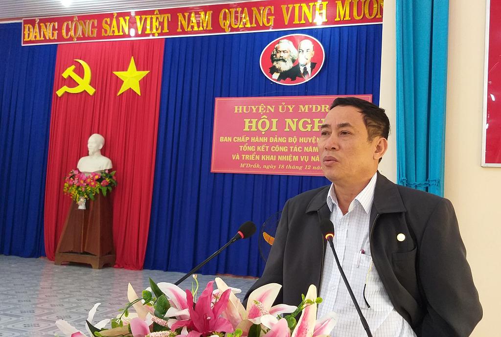 Hội nghị BCH Đảng bộ  huyện M'Đrắk lần thứ 16 (mở rộng)