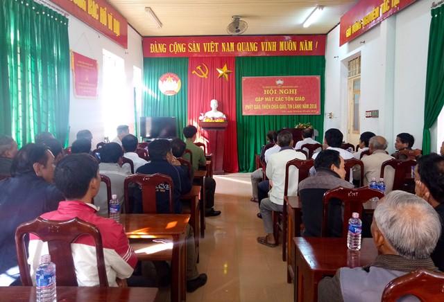 UBMTTQ Việt Nam huyện Lắk tổ chức gặp mặt các chức sắc tôn giáo năm 2018 trên địa bàn huyện