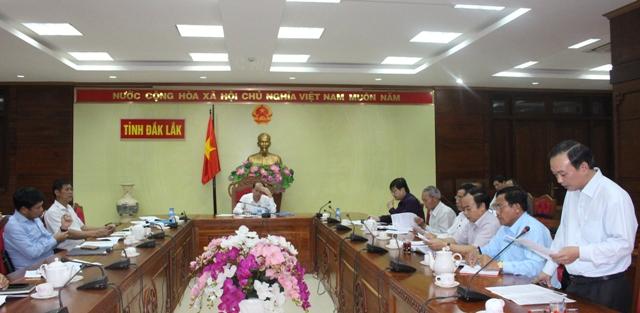 UBND tỉnh họp bàn về công tác tổ chức Hội nghị xúc tiến đầu tư tỉnh Đắk Lắk năm 2019