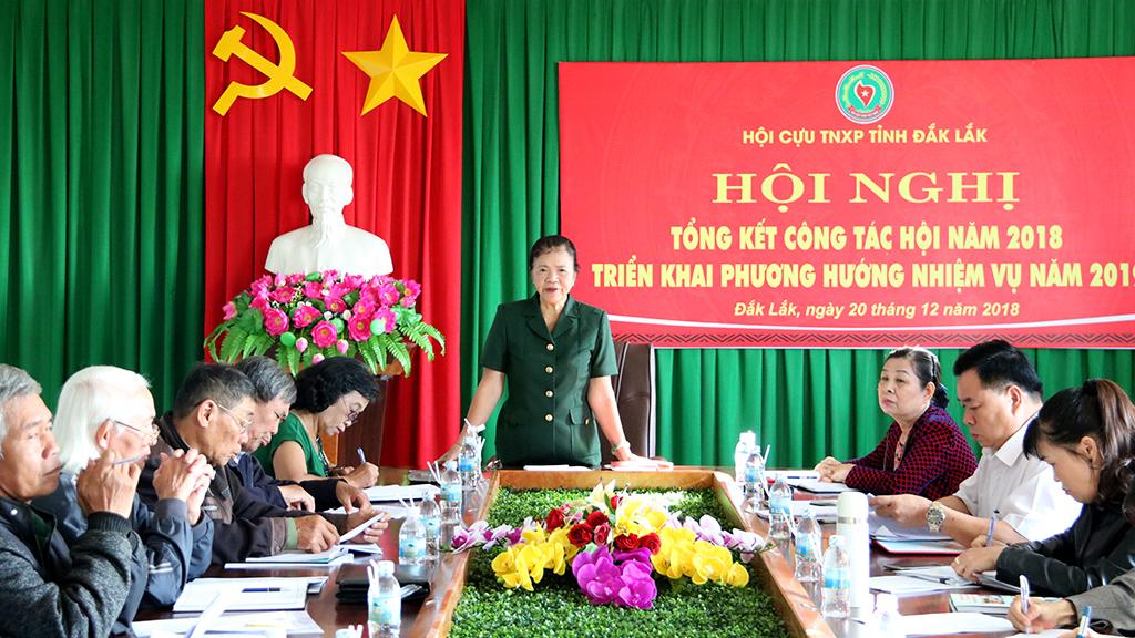 Hội Cựu Thanh niên xung phong tỉnh Đắk Lắk tổng kết công tác năm 2018