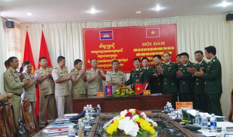 Hội đàm giữa Bộ Chỉ huy Bộ đội Biên phòng tỉnh Đắk Lắk và Ty Công an tỉnh Mondulkiri, Vương quốc Campuchia