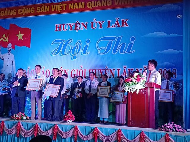 Hội thi Báo cáo viên giỏi huyện Lắk năm 2018