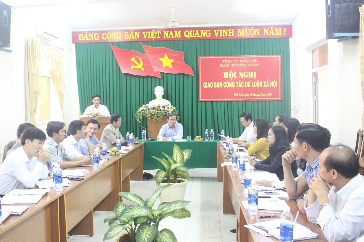 Hội nghị giao ban công tác dư luận xã hội tháng 12/2018