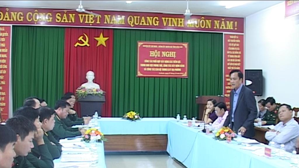 Ban Thường vụ Đảng ủy Quân sự tỉnh làm việc tại huyện Cư Kuin về công tác quân sự, quốc phòng