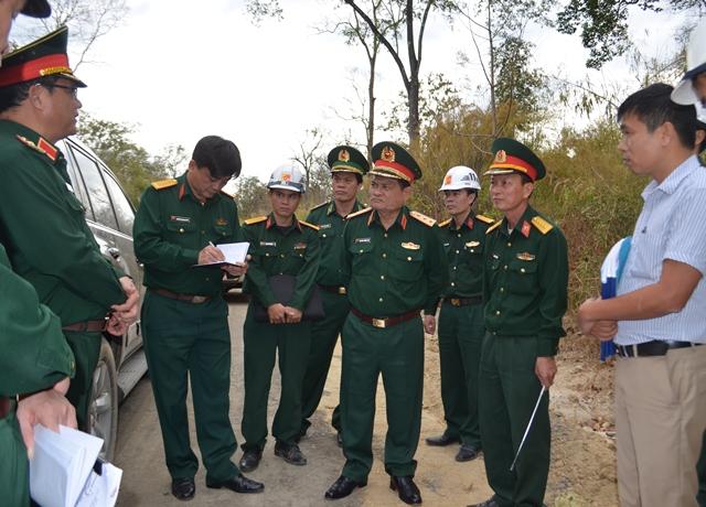 Bộ Tổng tham mưu kiểm tra tiến độ đường tuần tra biên giới Đắk Lắk, Đắk Nông