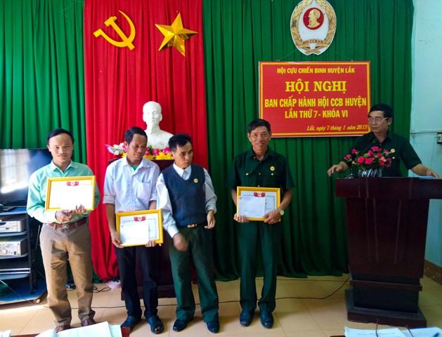 Hội nghị Ban Chấp hành Hội Cựu chiến binh huyện Lắk lần thứ 7, khóa VI năm 2019