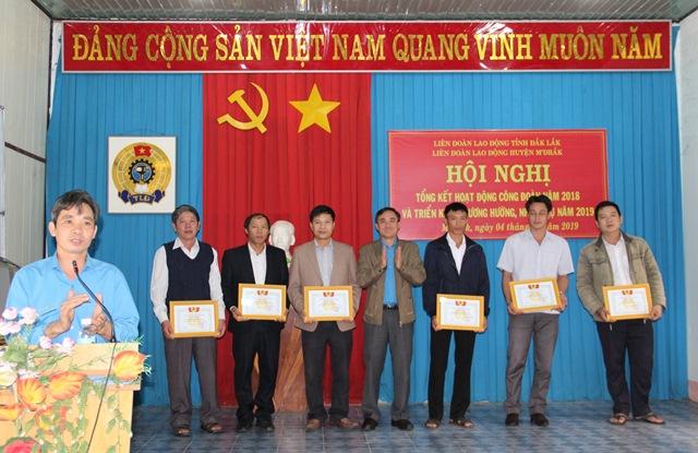 Liên đoàn Lao động huyện M'Đrắk Tổng kết hoạt động năm 2018 và triển khai phương hướng, nhiệm vụ năm 2019