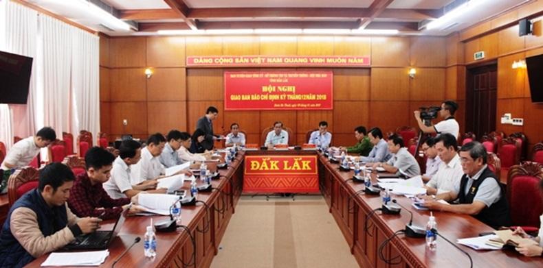 Hội nghị giao ban báo chí định kỳ tháng 12 năm 2018