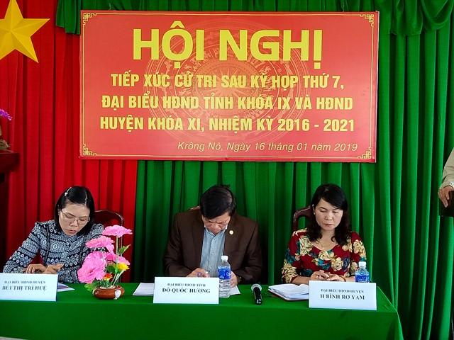 Đoàn Đại biểu HĐND tỉnh và huyện tiếp xúc cử tri tại xã Krông Nô và xã Nam Ka, huyện Lắk