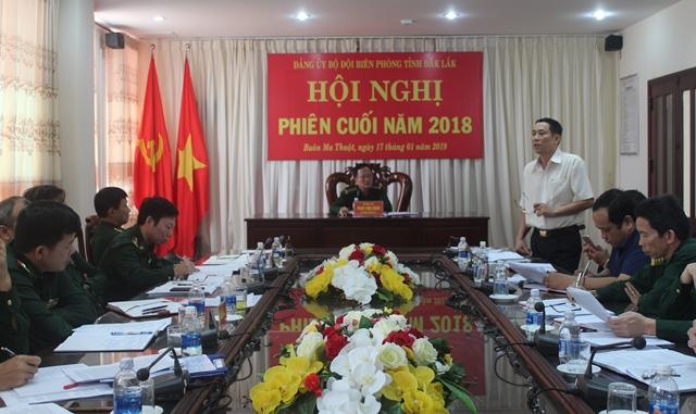 Đảng ủy Bộ đội Biên phòng tỉnh tổ chức Hội nghị phiên cuối năm 2018