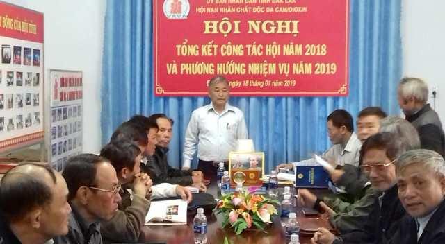 Hội nạn nhân chất độc da cam/dioxin tỉnh Đắk Lắk tổ chức Hội nghị tổng kết công tác Hội năm 2018