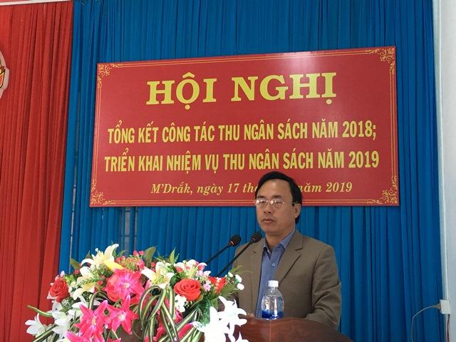 Huyện M'Drắk tổng thu ngân sách năm 2018, đạt trên 366% kế hoạch