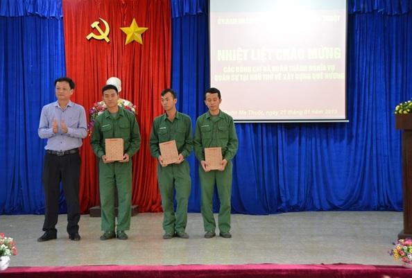 Thành phố Buôn Ma Thuột, đón trên 200 quân nhân hoàn thành nghĩa vụ quân sự trở về địa phương