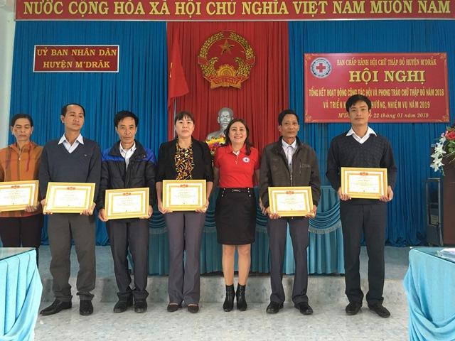 Hội Chữ thập đỏ huyện M'Đrắk tổ chức tổng kết hoạt động công tác hội và phong trào Hội Chữ thập đỏ năm 2018
