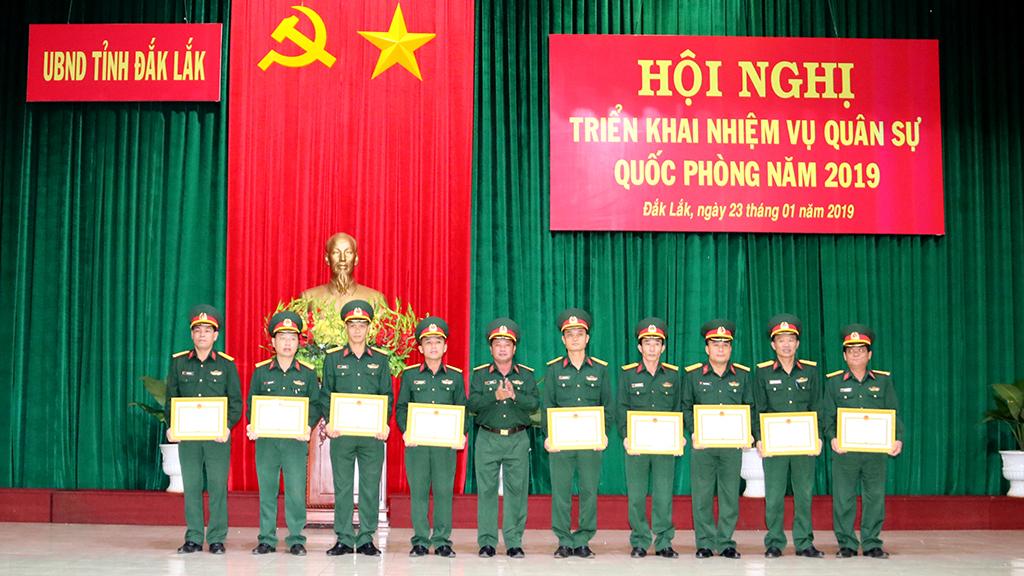 Hội nghị triển khai nhiệm vụ quân sự quốc phòng năm 2019
