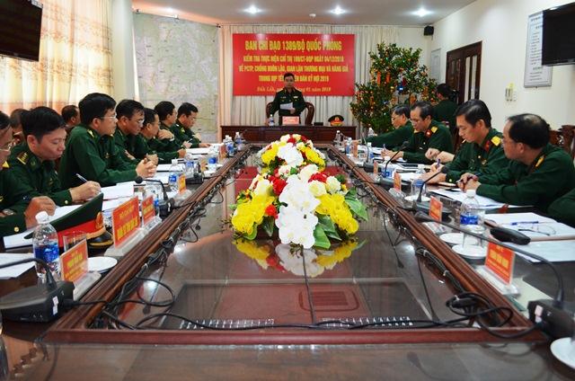Ban Chỉ đạo 1389 Bộ Quốc phòng kiểm tra và làm việc tại Bộ Chỉ huy Bộ đội Biên phòng tỉnh Đắk Lắk.