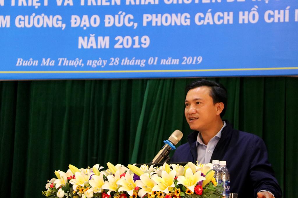 Đoàn khối các cơ quan triển khai chuyên đề học tập và làm theo tấm gương, đạo đức, phong cách Hồ Chí Minh năm 2019