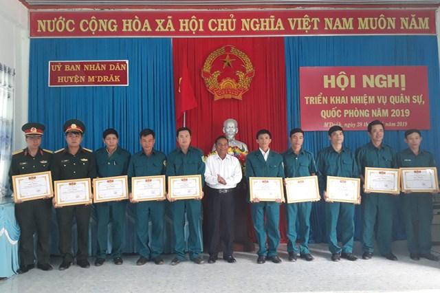 UBND huyện M'Đrắk triển khai nhiệm vụ quân sự- quốc phòng năm 2019