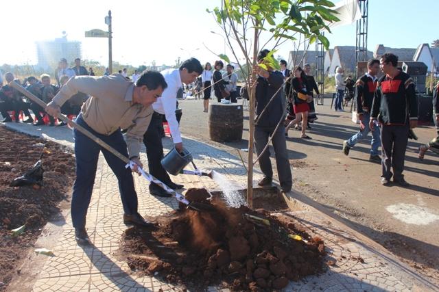 Lãnh đạo tỉnh tham dự Tết trồng cây Xuân Kỷ Hợi 2019 tại Bảo tàng thế giới Cà phê
