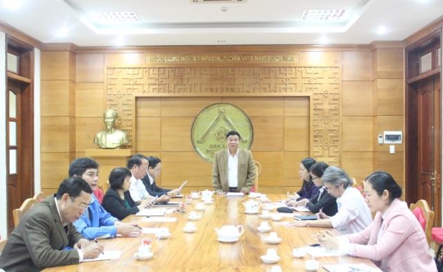 Ban Văn hóa – Xã hội, HĐND tỉnh triển khai chương trình công tác năm 2016.