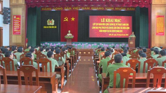 Công an tỉnh tập huấn điều lệnh cho hơn 150 lãnh đạo chỉ huy và cán bộ chiến sĩ