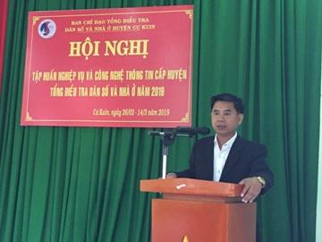 Cư Kuin tập huấn nghiệp vụ Tổng điều tra dân số và nhà ở năm 2019