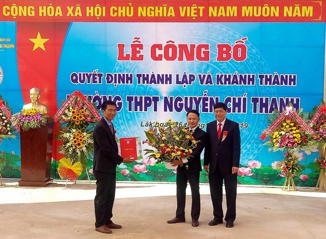 Lễ công bố Quyết định thành lập và khánh thành Trường THPT Nguyễn Chí Thanh