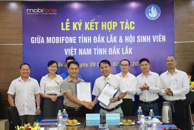 Hội Sinh viên Việt Nam tỉnh và MobiFone Đắk Lắk ký kết chương trình phối hợp hoạt động năm 2019