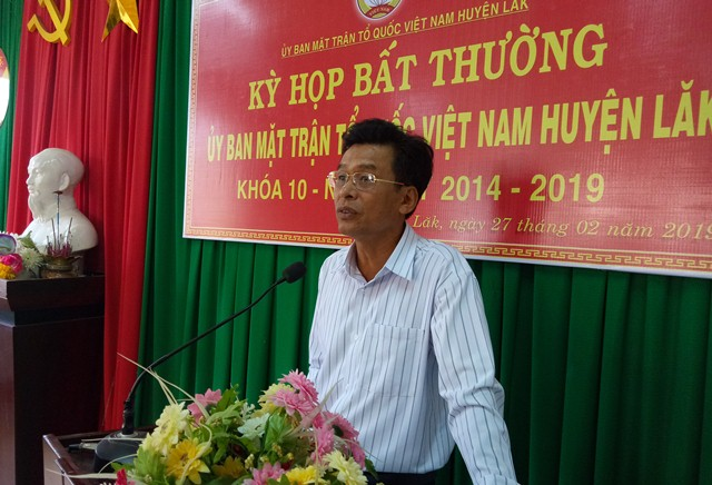 Ủy ban MTTQVN huyện Lắk tổ chức kỳ họp bất thường khóa X, nhiệm kỳ (2014-2019)
