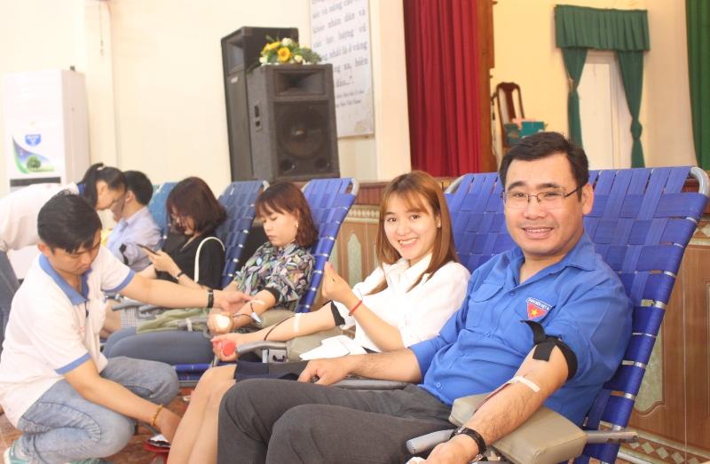 Tiếp nhận 480 đơn vị máu từ Ngày hội hiến máu tình nguyện đợt 01 năm 2019