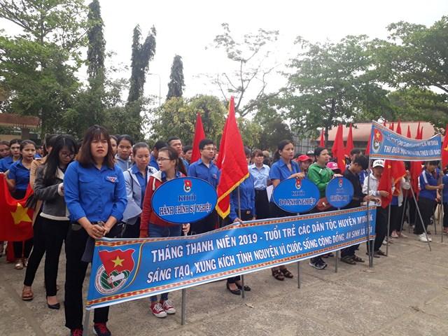 Huyện đoàn M'Đrắk ra quân Tháng Thanh niên năm 2019