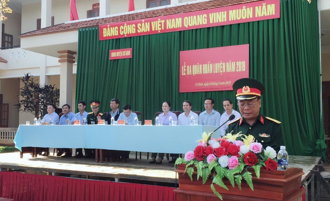 Ban Chỉ huy Quân sự huyện Cư Kuin tổ chức ra quân huấn luyện năm 2019