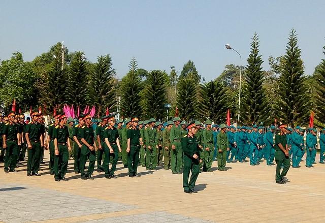BCH Quân sự huyện Lắk tổ chức Lễ ra quân huấn luyện năm 2019