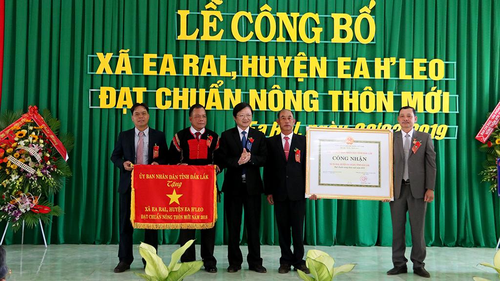 Lễ công bố xã Ea Ral - huyện Ea H'leo đạt chuẩn nông thôn mới