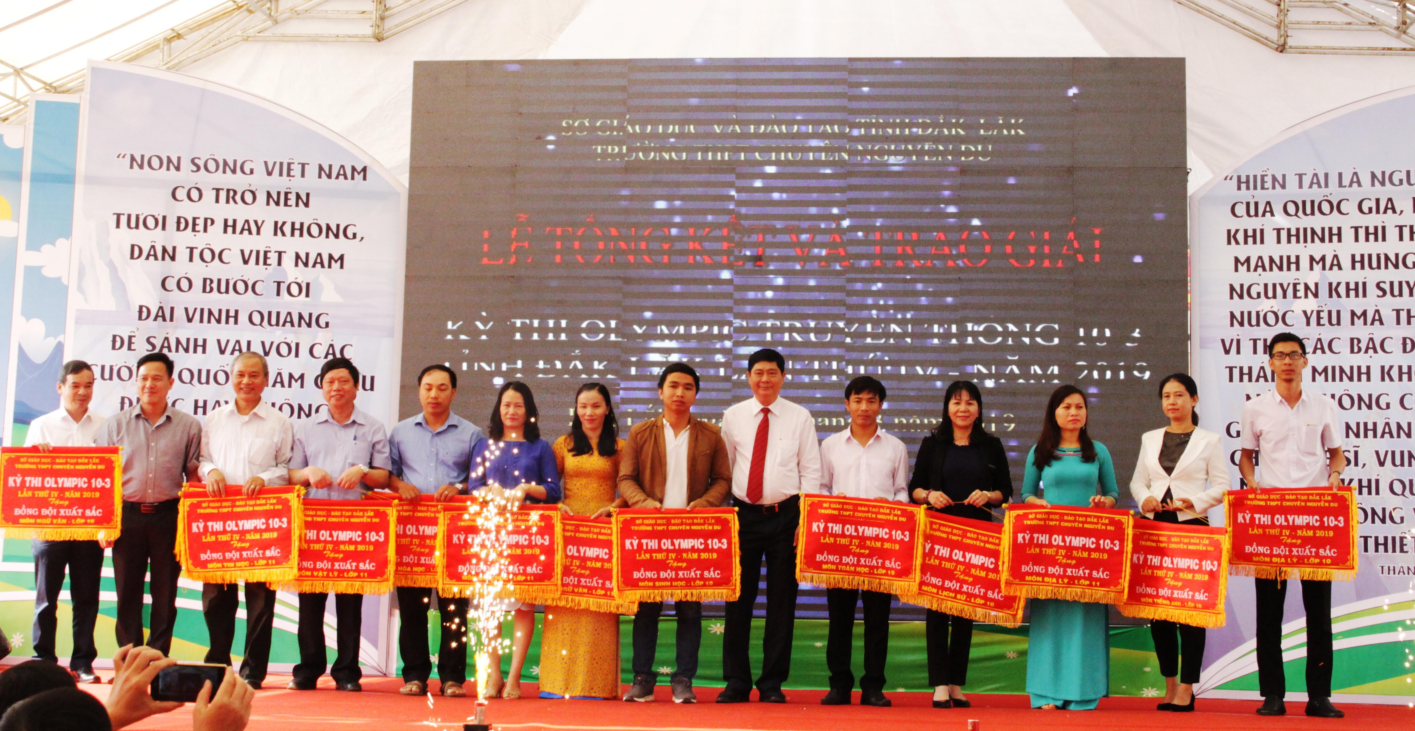 Kỳ thi Olympic truyền thống 10/3 lần thứ 4 năm 2019: Trường THPT chuyên Nguyễn Du dẫn đầu với 58 huy chương