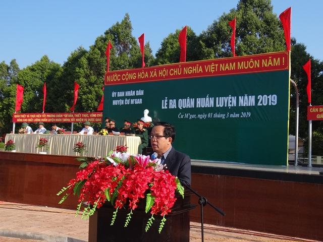 Huyện Cư M'gar tổ chức lễ ra quân huấn luyện năm 2019 và chạy thể thao CISM