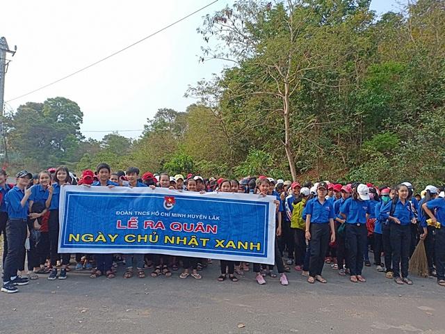 Huyện Lắk ra quân Ngày Chủ nhật xanh năm 2019