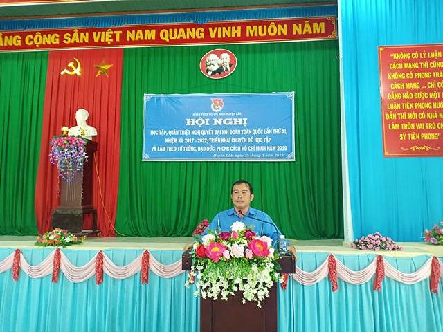 Hơn 80 cán bộ đoàn huyện Lắk học tập Nghị quyết Đại hội Đoàn