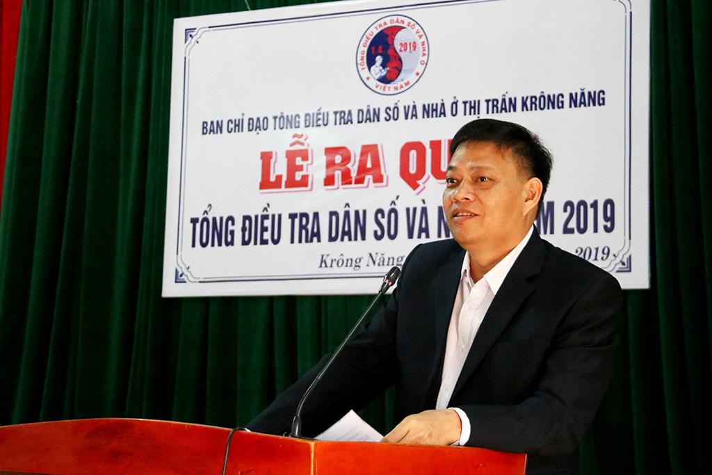 Thị trấn Krông Năng ra quân tổng điều tra dân số và nhà ở năm 2019