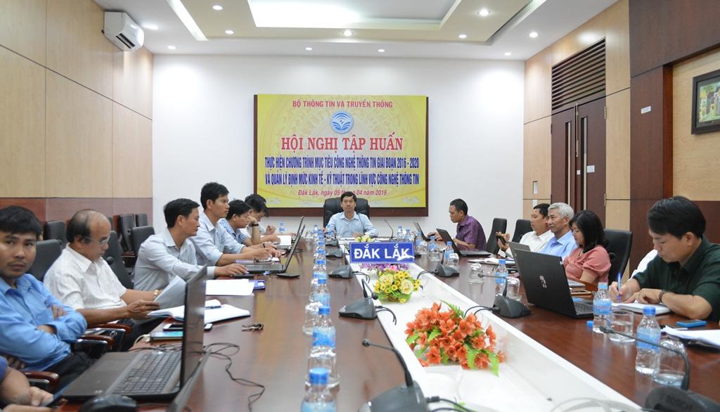 Hội nghị trực tuyến tập huấn thực hiện Chương trình mục tiêu công nghệ thông tin