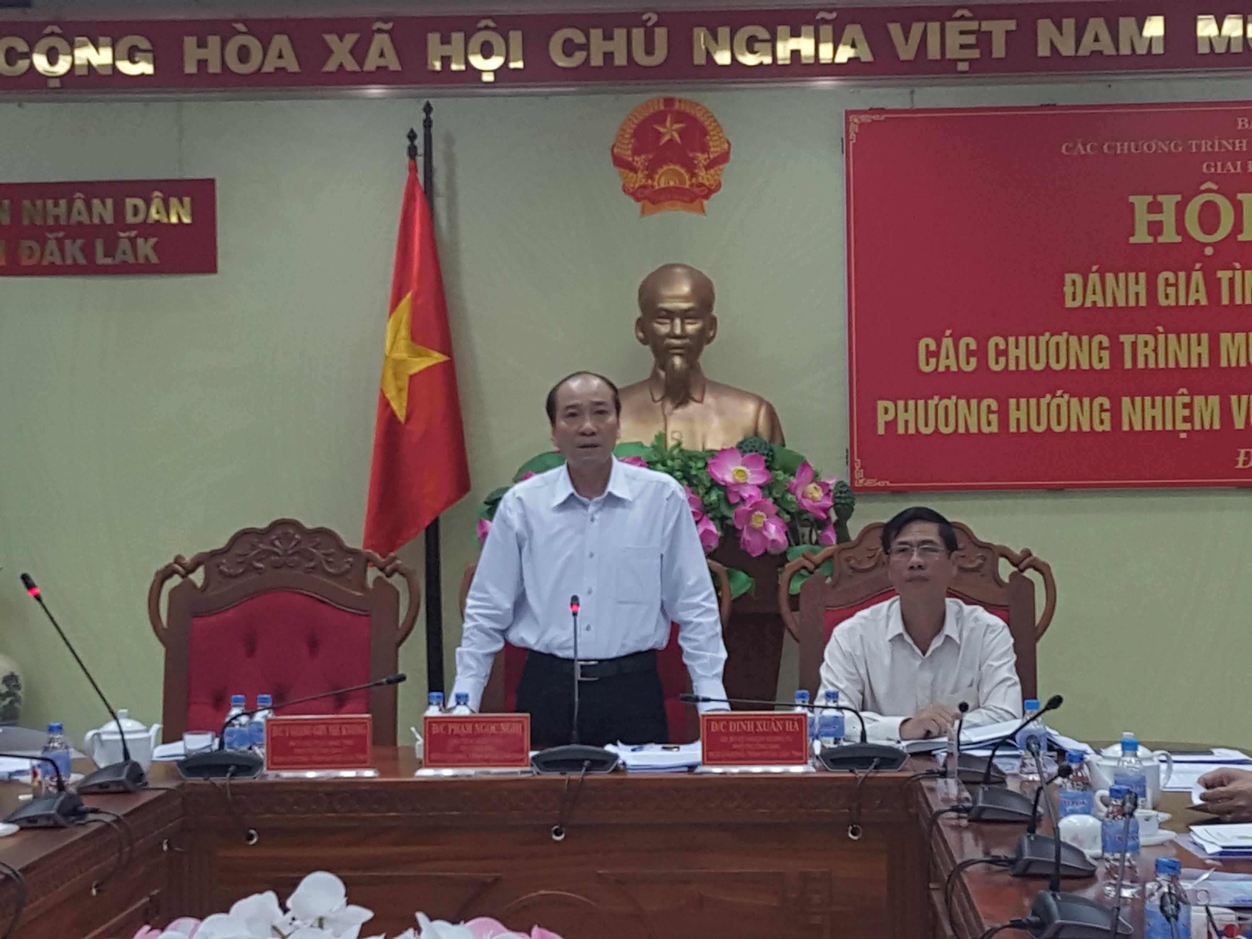 Hội nghị tổng kết đánh giá tình hình thực hiện các chương trình mục tiêu quốc gia năm 2018.