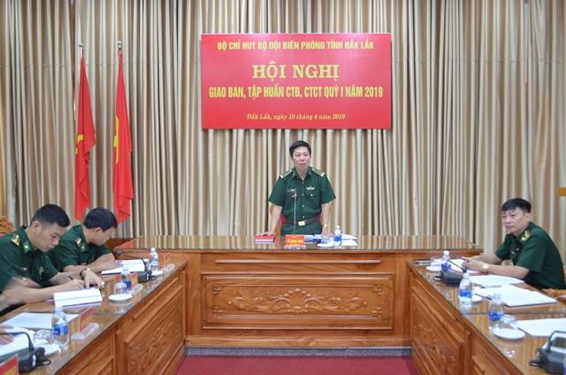 Bộ Chỉ huy Bộ đội Biên phòng tỉnh giao ban, tập huấn công tác đảng, công tác chính trị năm 2019