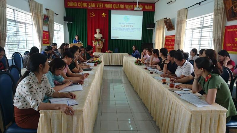 Hội Liên hiệp Phụ nữ tỉnh tập huấn bồi dưỡng kiến thức nghiệp vụ năm 2019