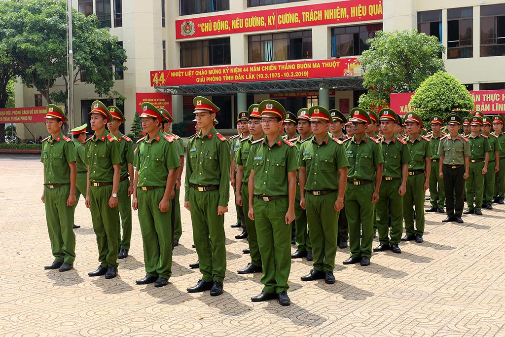 Công an tỉnh Đắk Lắk sẵn sàng cho Hội thi điều lệnh, quân sự, võ thuật CAND lần thứ 5, năm 2019