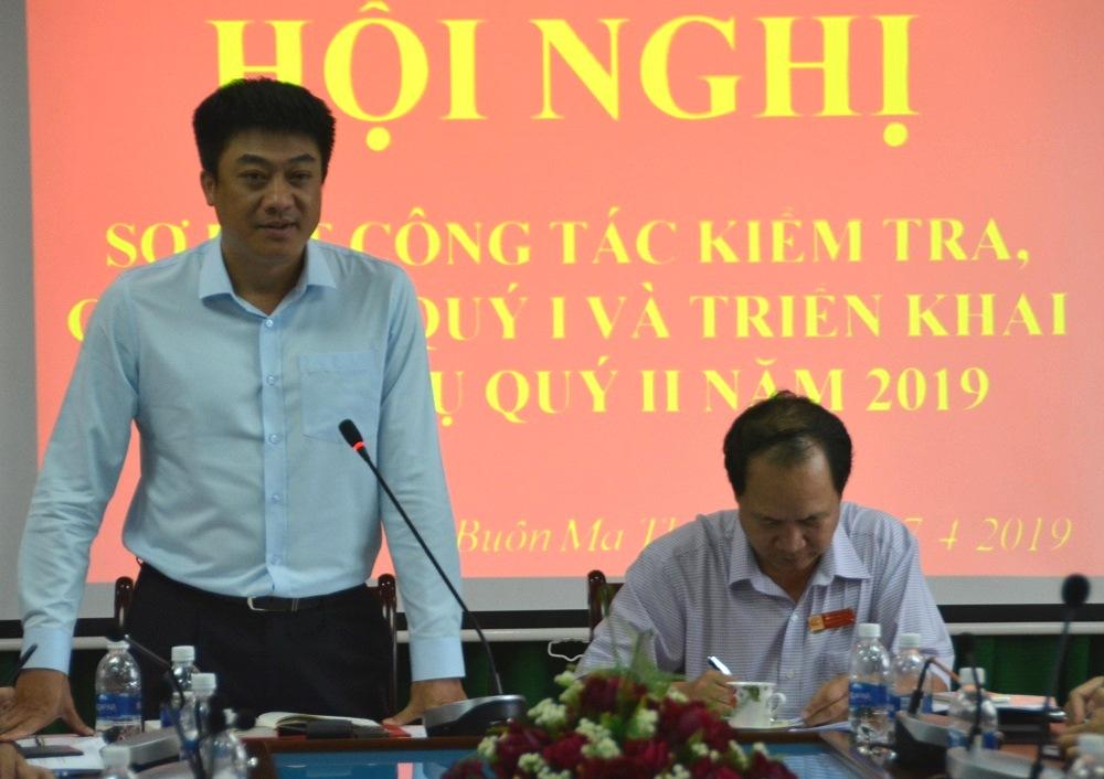 Ủy ban kiểm tra Thành ủy Buôn Ma Thuột triển khai nhiệm vụ trọng tâm quý II năm 2019.