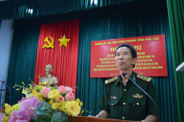 Đảng ủy BĐBP tỉnh Đắk Lắk quán triệt các Nghị quyết, Chỉ thị, Kết luận của Bộ Chính trị, Ban Bí thư và Quân ủy Trung ương