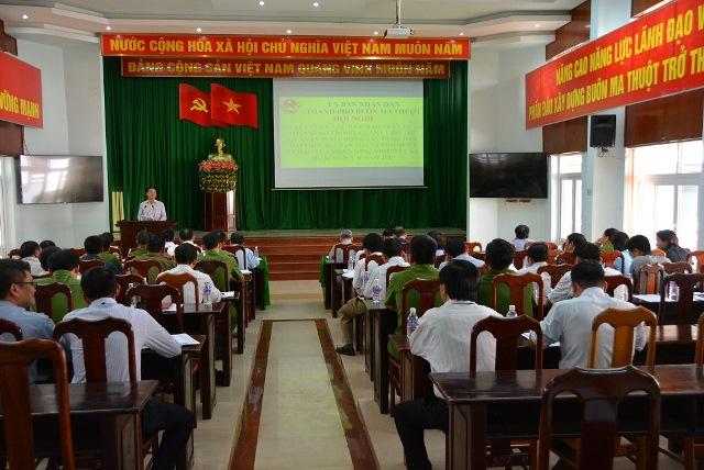 Thành phố Buôn Ma Thuột triển khai công tác đảm bảo trật tự an toàn giao thông, quản lý đô thị và xây dựng, đất đai trên địa bàn Quý II năm 2019