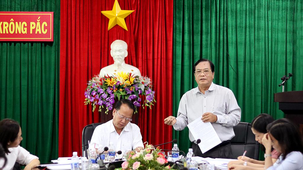Giám sát tình hình chấp hành pháp luật về xử lý vi phạm hành chính tại huyện Krông Pắc